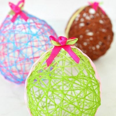 String Easter Eggs Craft