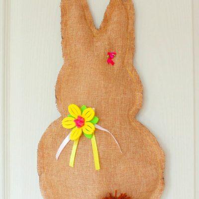 Easter Bunny Door Hanger Sewing Tutorial