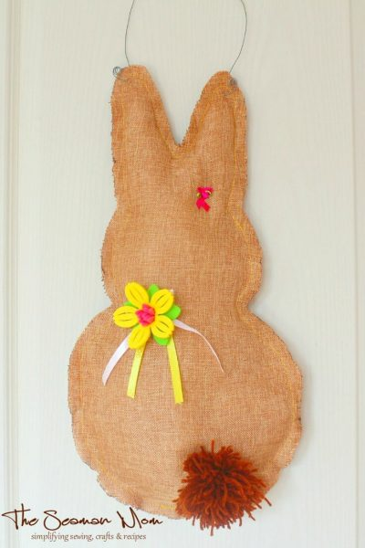 Easter Bunny Door Hanger Sewing Tutorial