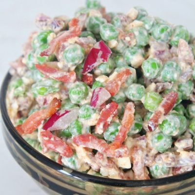 Peas Bacon Feta Cheese Salad