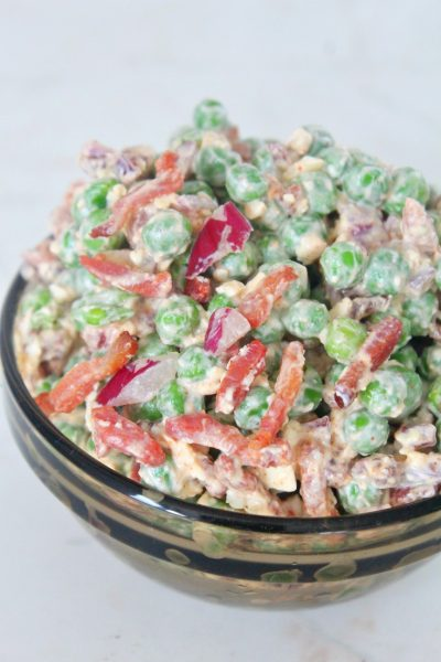 Peas Bacon Feta Cheese Salad