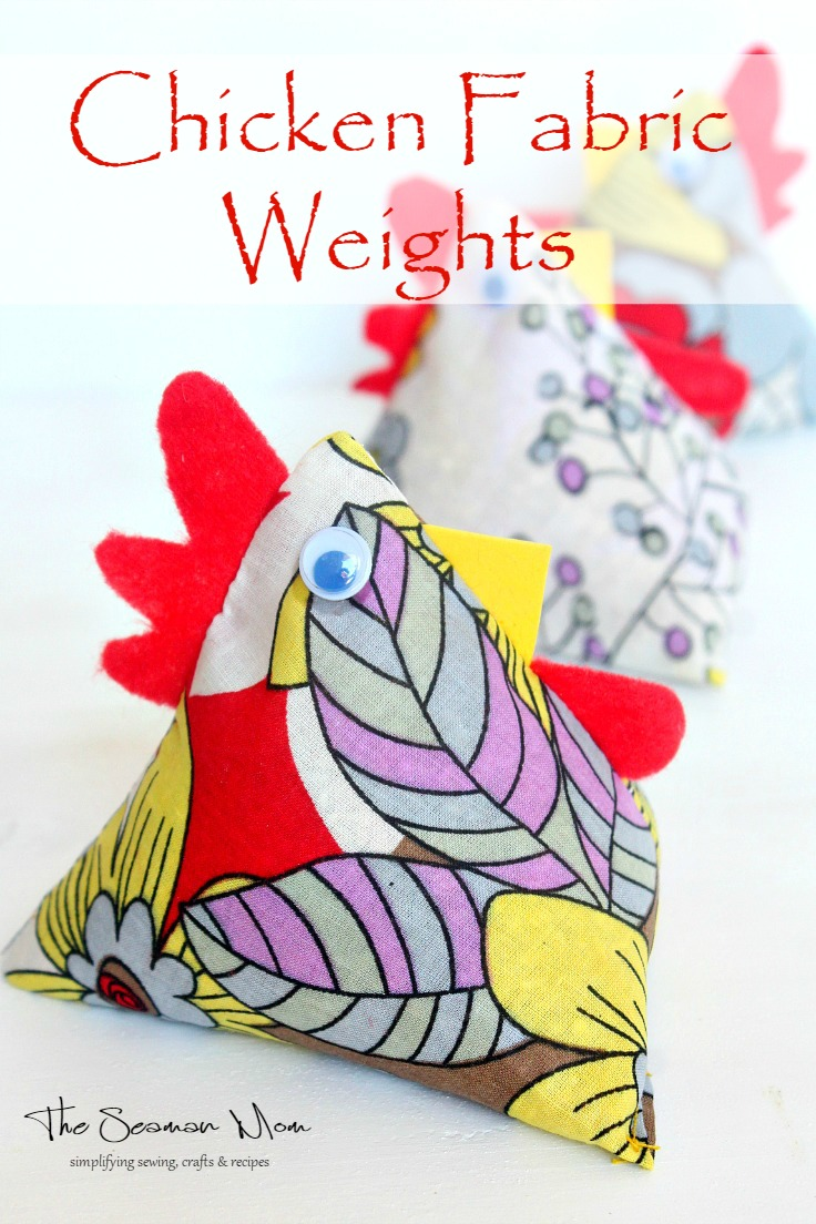 Chicken Weights for sewing patterns and fabrics