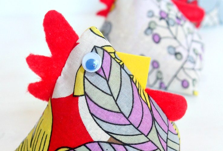 Chicken Fabric Weights Sewing Tutorial