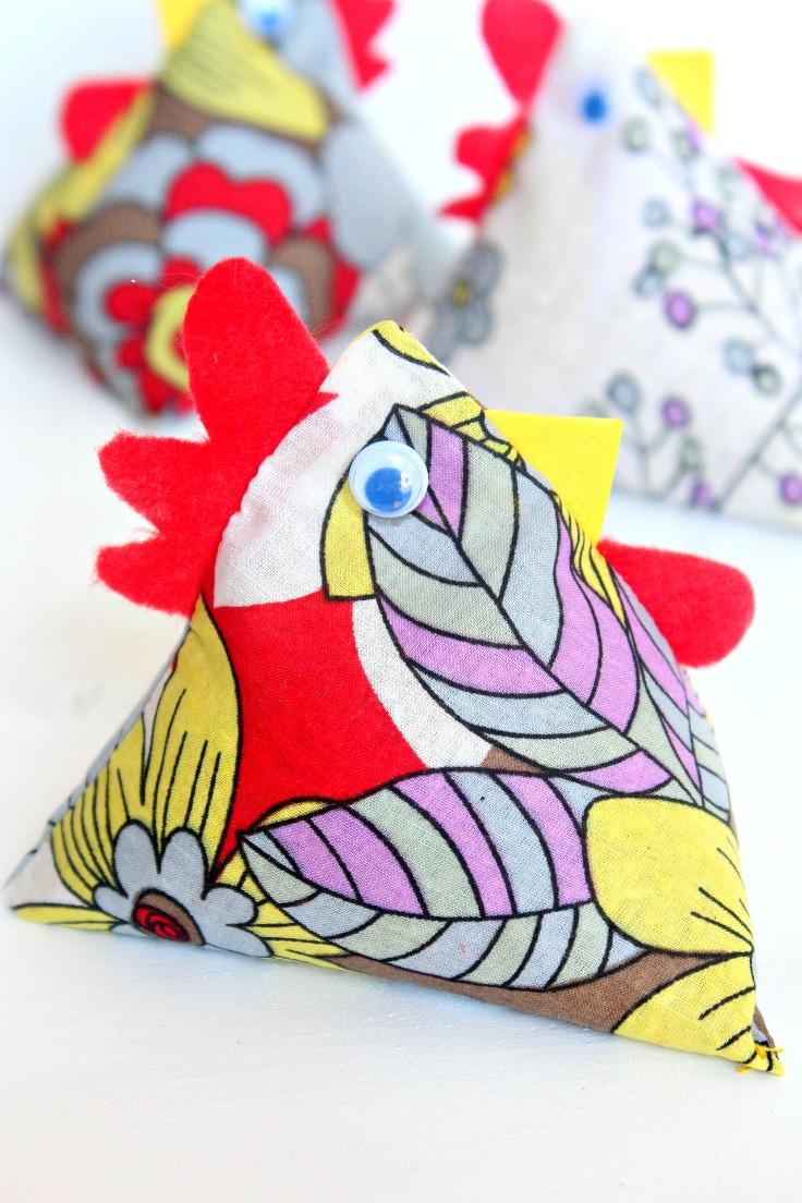 fabric chicken pattern