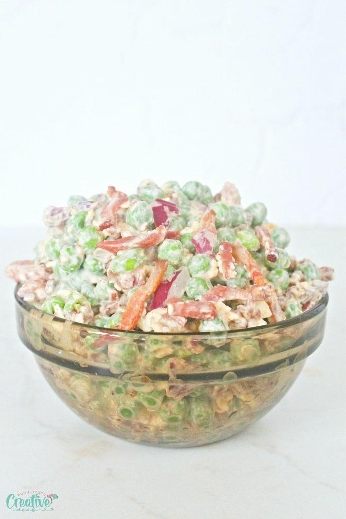 Pea and bacon salad