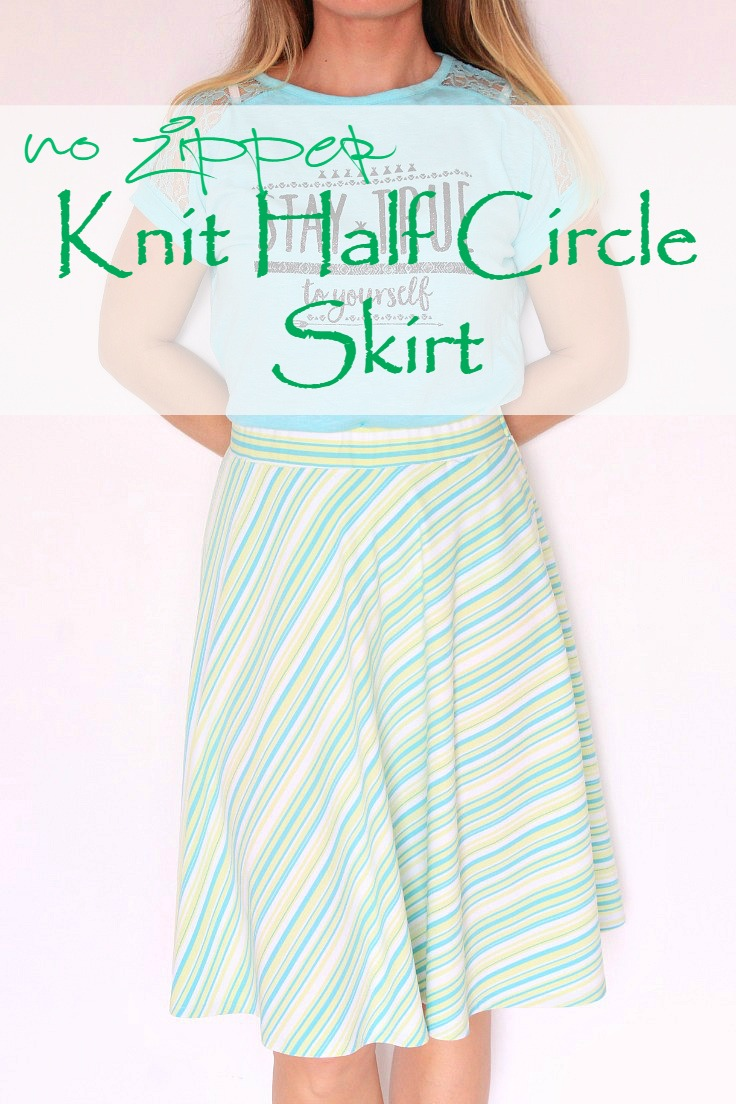 Image of a Half Circle Skirt made with stretch fabric in midi length