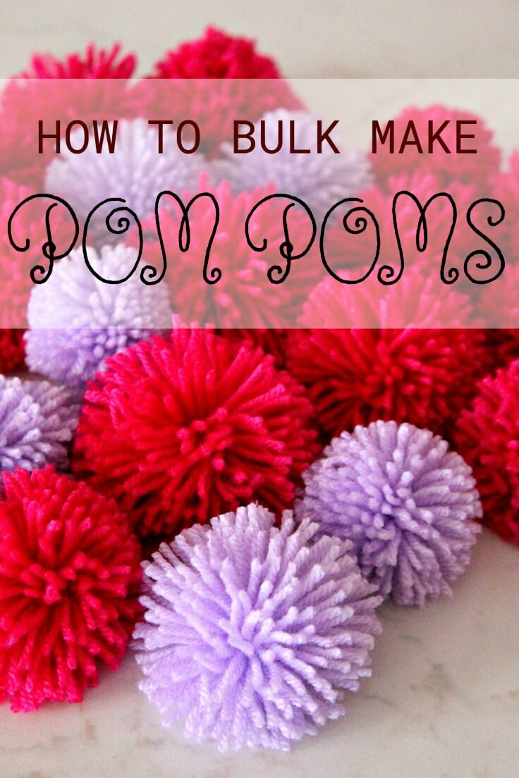 How To Make Pom Poms In Bulk
