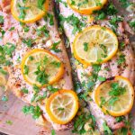 Baked Fish With Lemon Garlic Butter