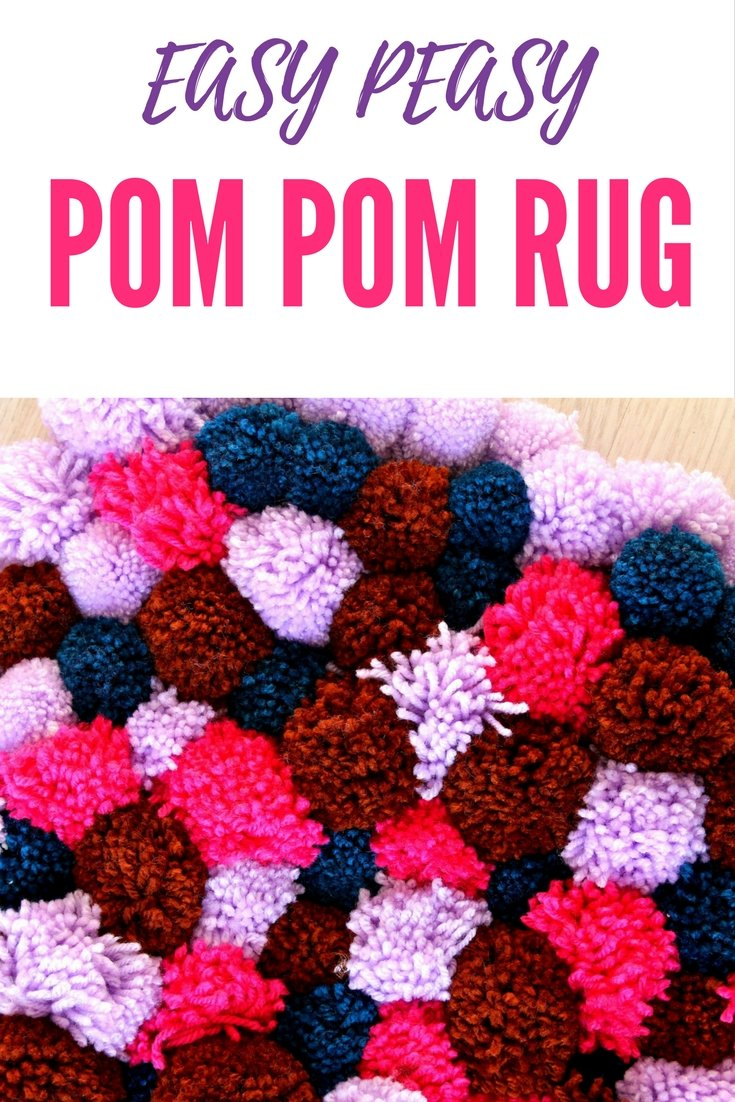 Diy Pom Rug Super Easy To Make With Fluffy Wool Yarn