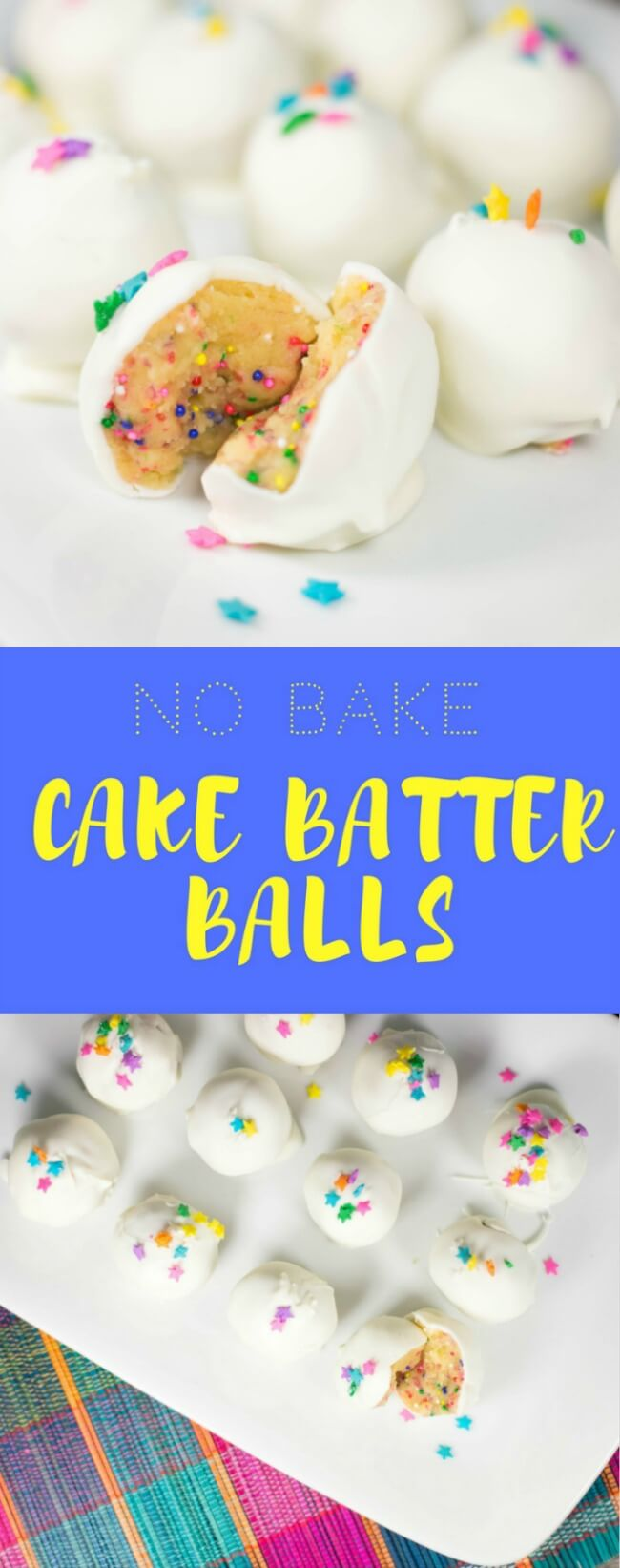 No bake cake batter balls recipe
