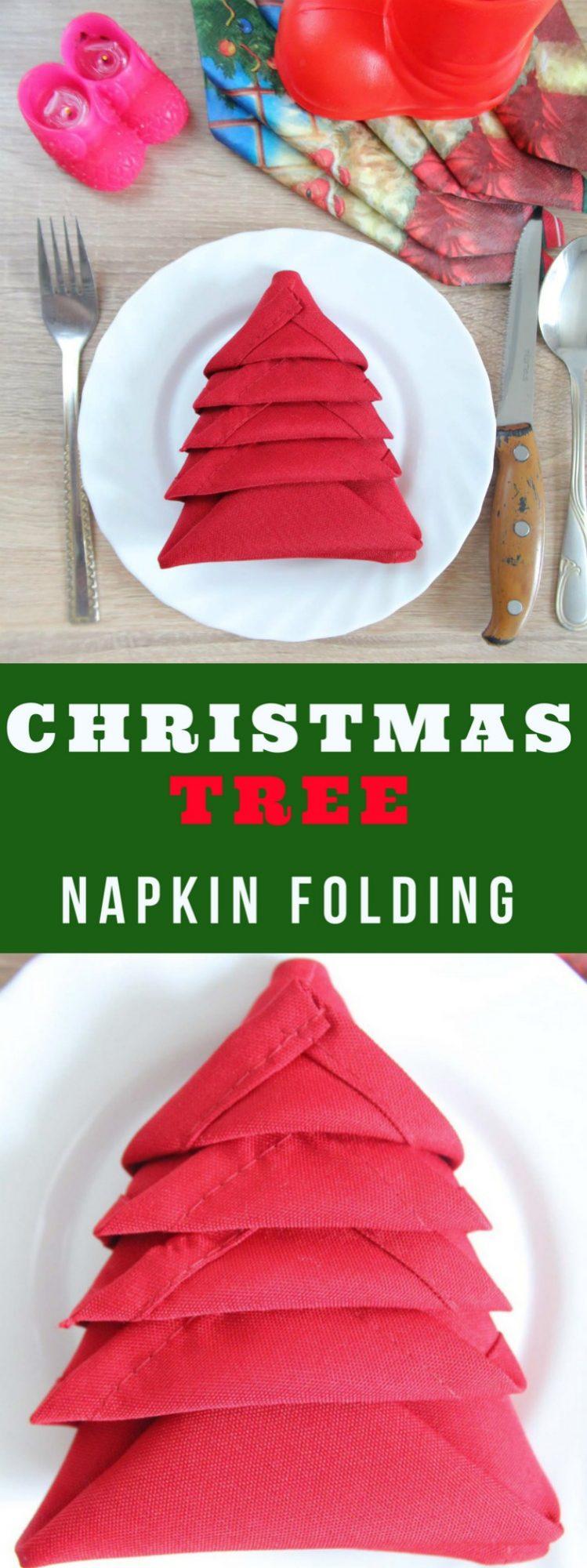 Christmas Tree Napkin Folding Two Minutes Tutorial