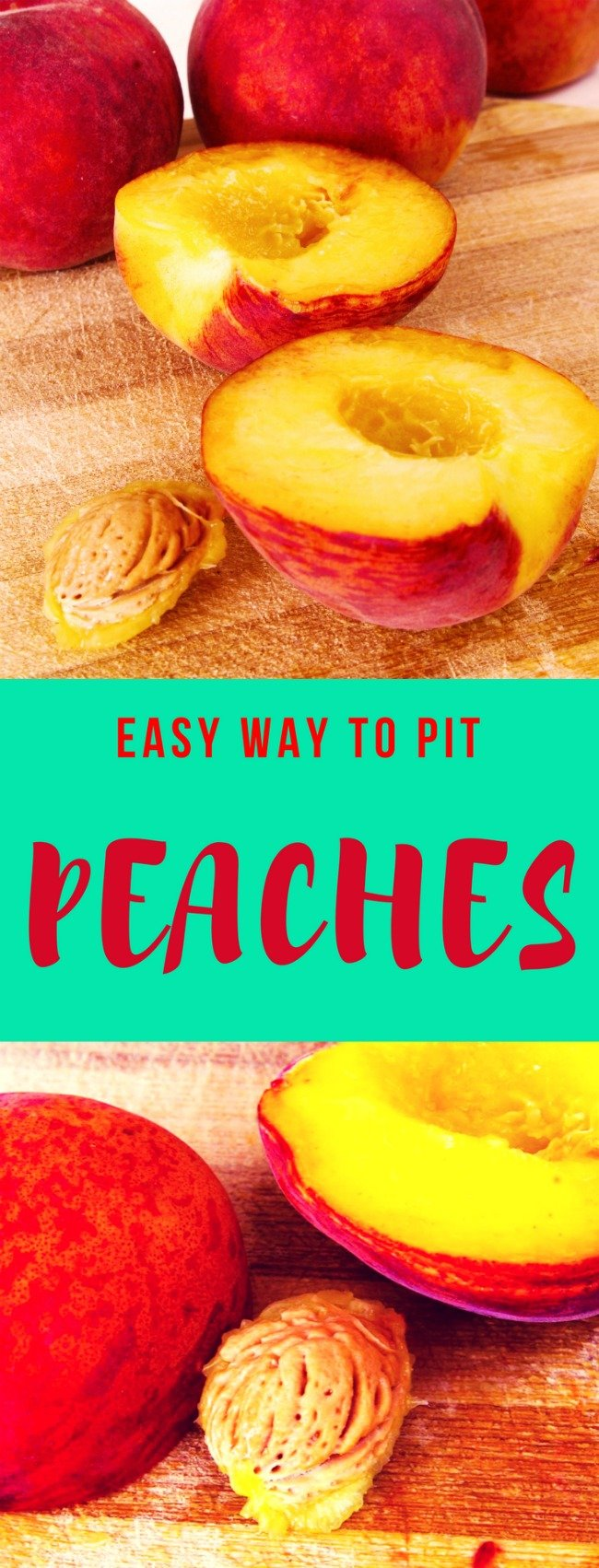How to pit peaches easily