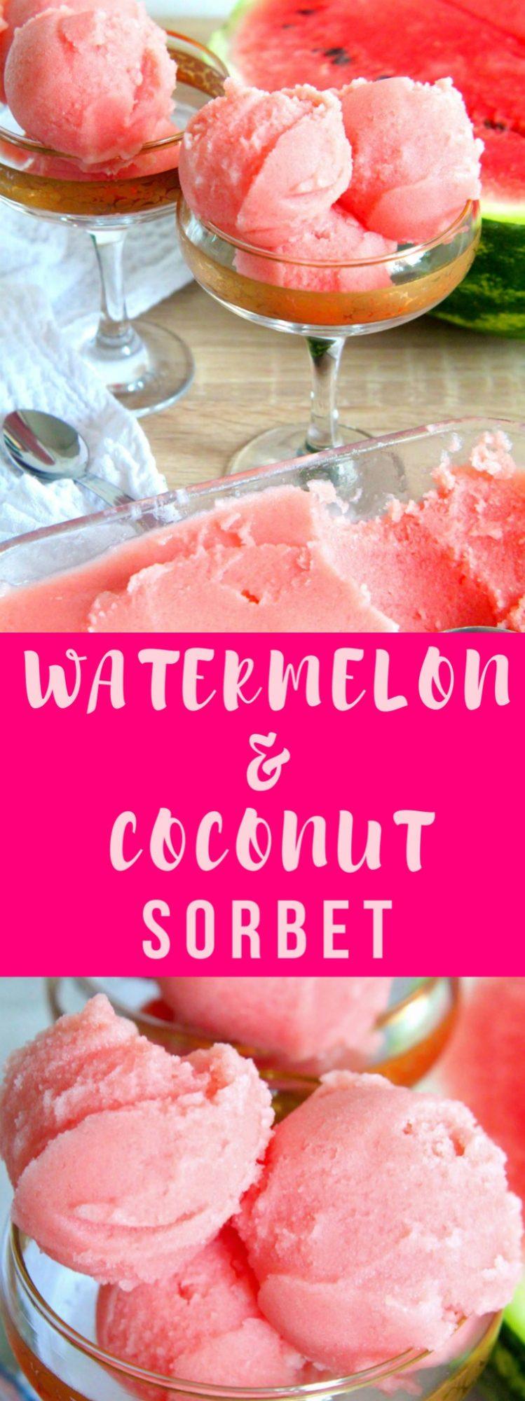 Watermelon sorbet
