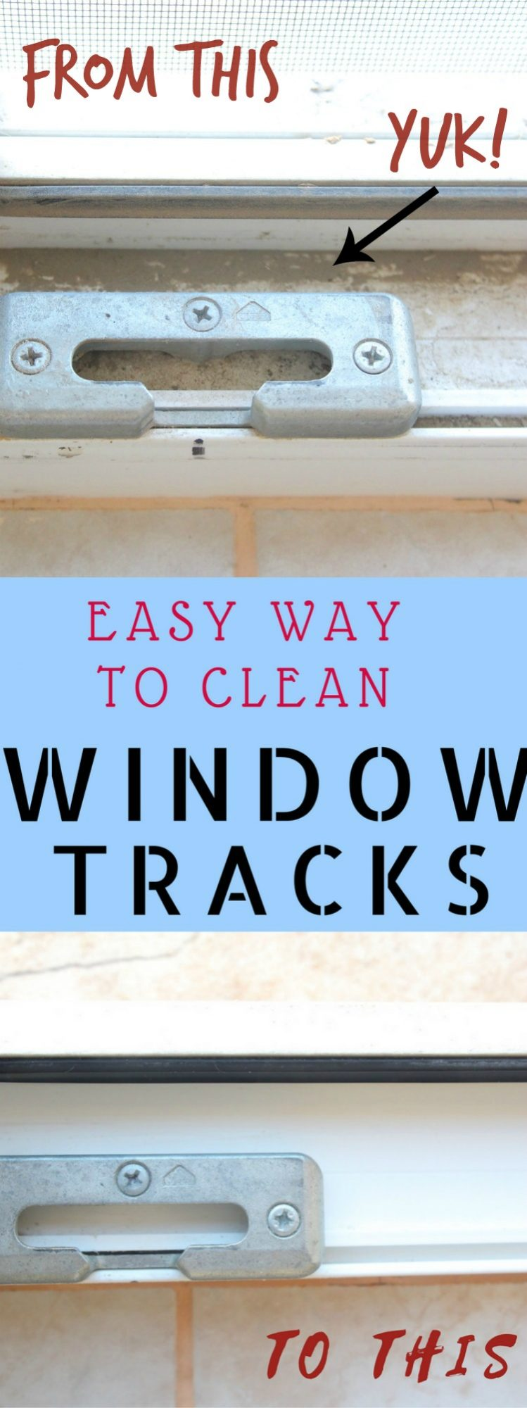 Best way to clean window tracks