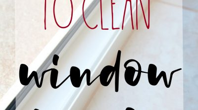 Easy way to clean window tracks