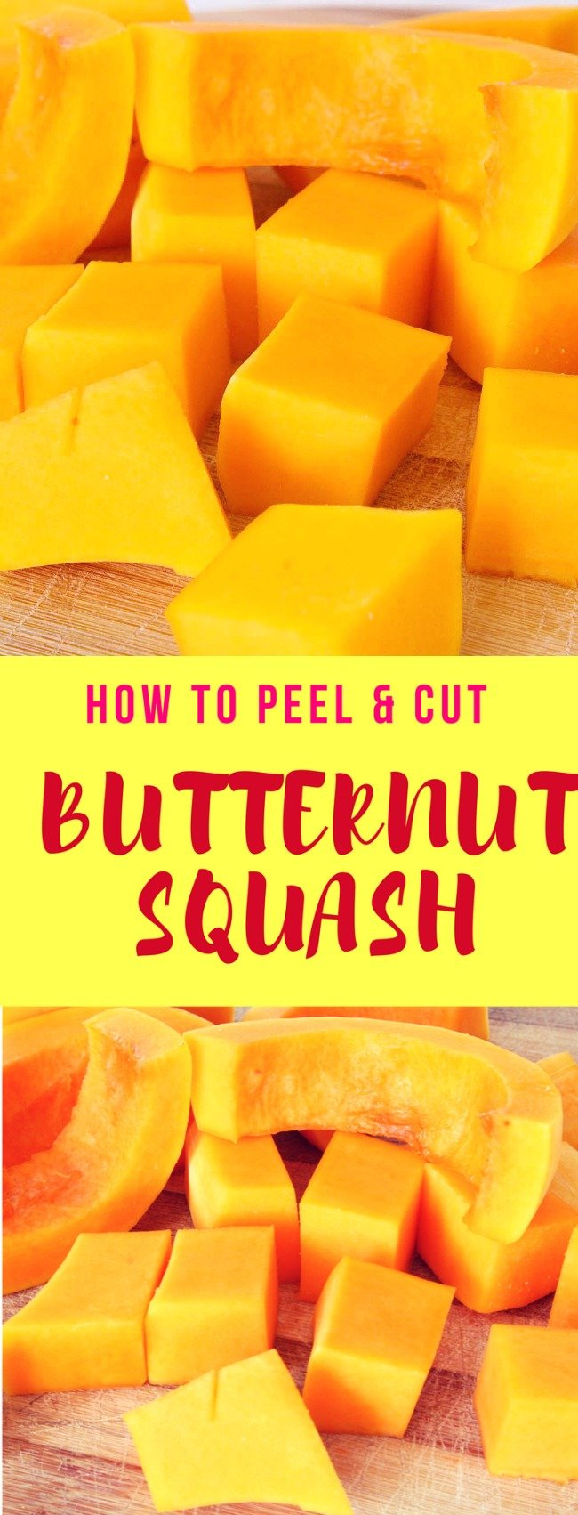How to peel butternut squash