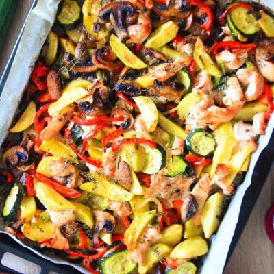 One Sheet Pan Turkey Veggie Bake