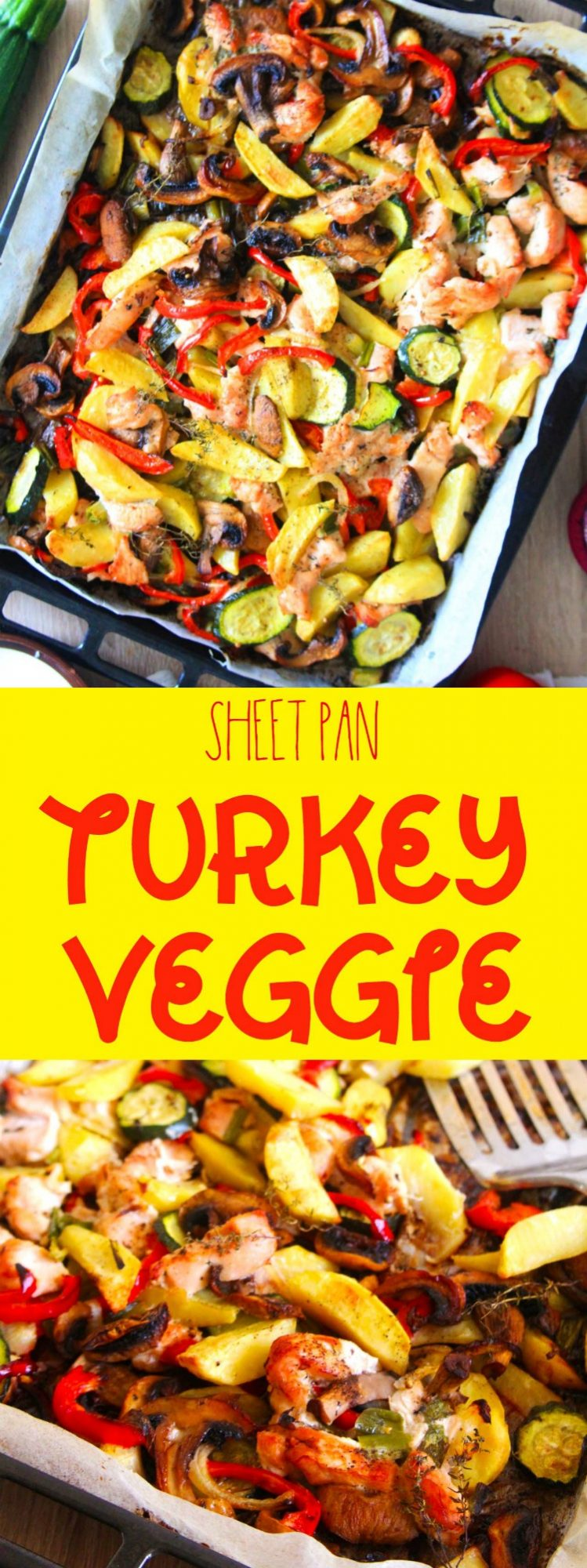 One pan turkey veggie bake