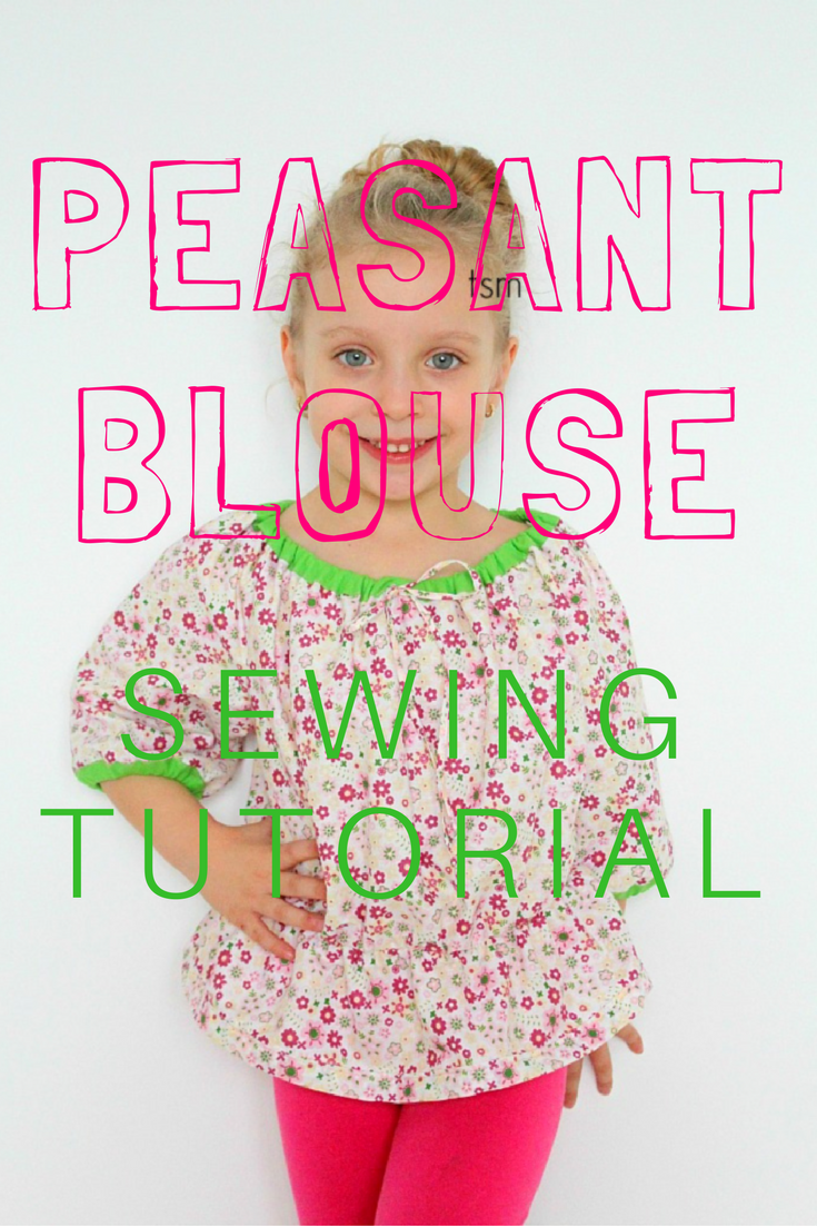 Peasant tops are a staple in every girls wardrobe along with peasant dresses! Such easy sewing patterns for beginners and look simply adorable on little ones. Below is a free peasant top pattern.