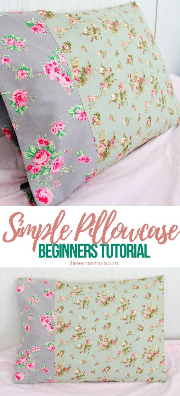 Pillowcase tutorial for a basic and simple pillowcase perfect beginners tutorial