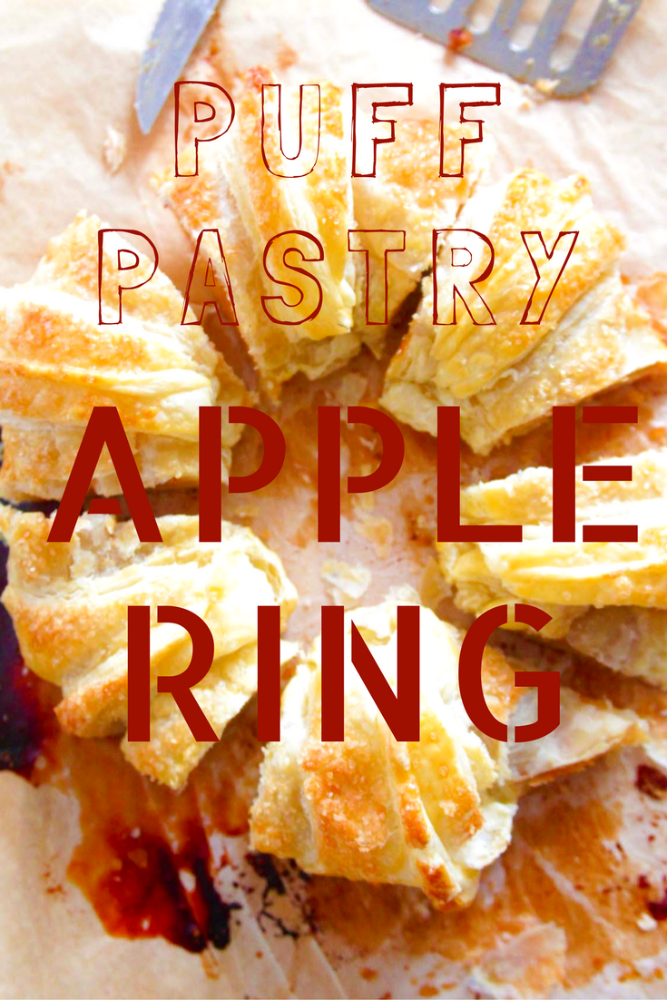 Try this apple puff pastry ring for an amazing fall dessert or breakfast idea! It's so delicious, you wont believe how quick this comes together!