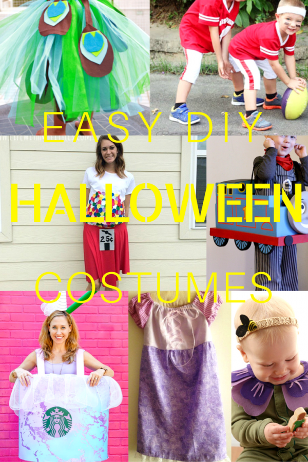 Put together an amazing Halloween outfit for yourself and the whole family with these brilliant DIY easy Halloween costumes! Easy peasy to make and so much fun to wear!