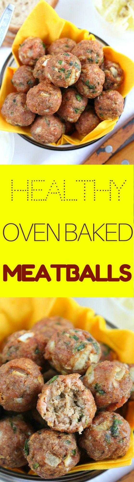 Healthy Baked Meatballs