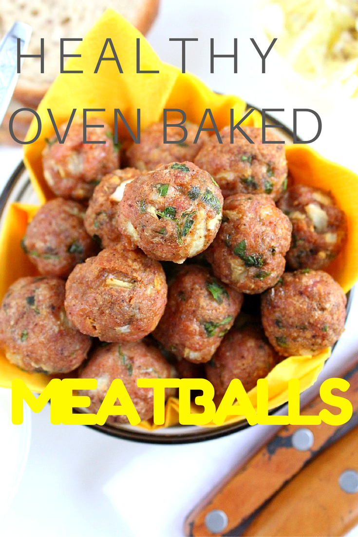 These easy to make and healthy baked meatballs are your foolproof, go to recipe, a much healthier alternative to the classic meatballs! You'll be making these over and over again!
