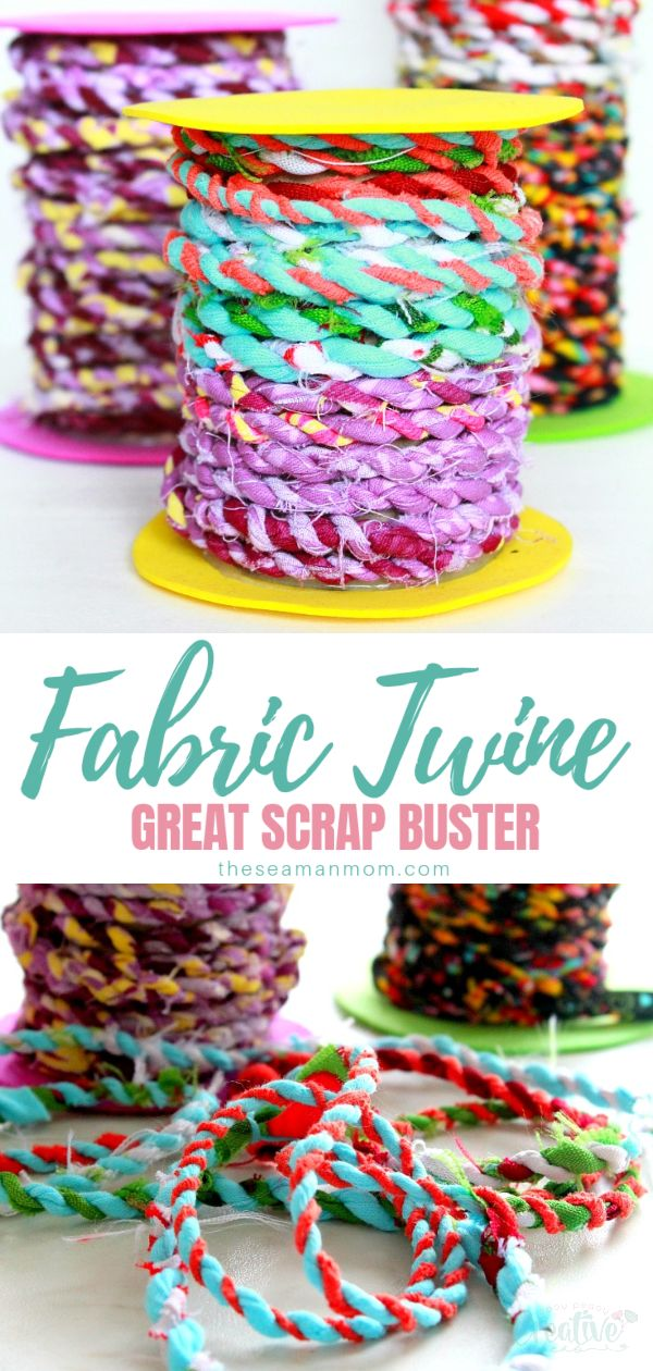 Do you happen to have too many fabric scraps in your stash? Clean up your basket and put all those beloved scraps to a good use with this delightful tutorial on making fabric twine.  via @petroneagu