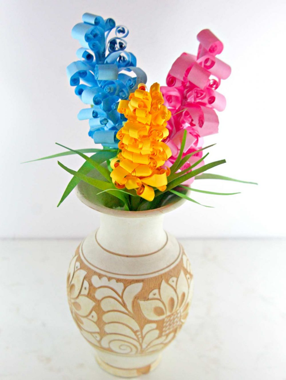 Swirly Paper Flowers Gorgeous Easy Peasy Gift Idea