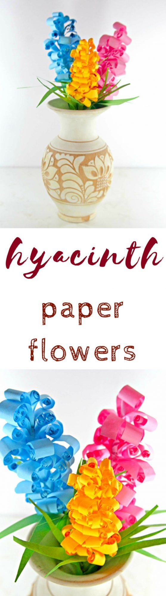 Swirly paper flowers