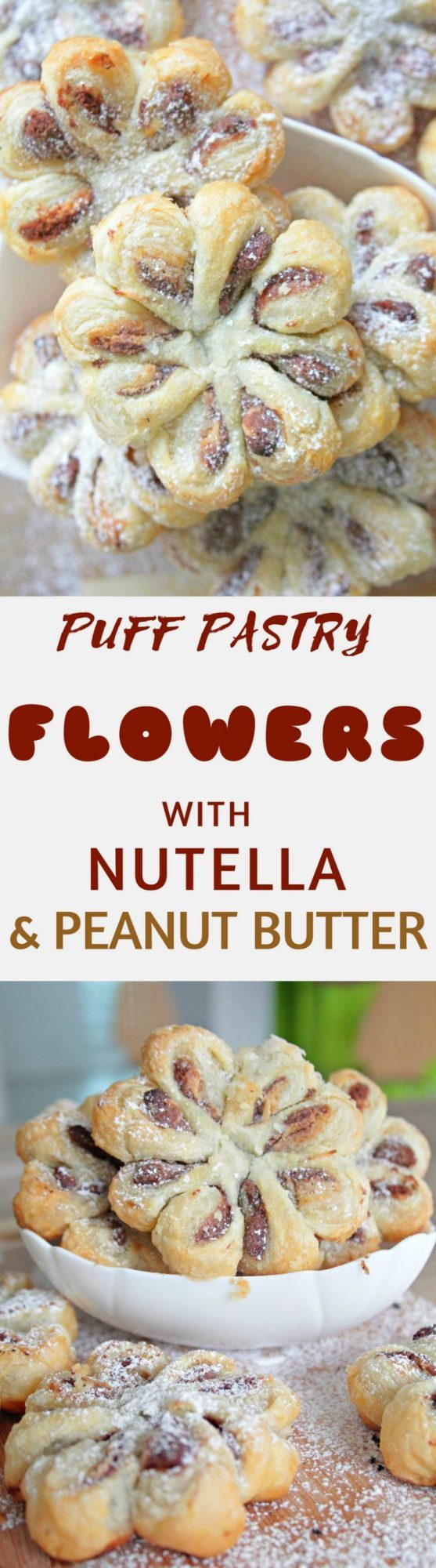 Puff pastry flowers