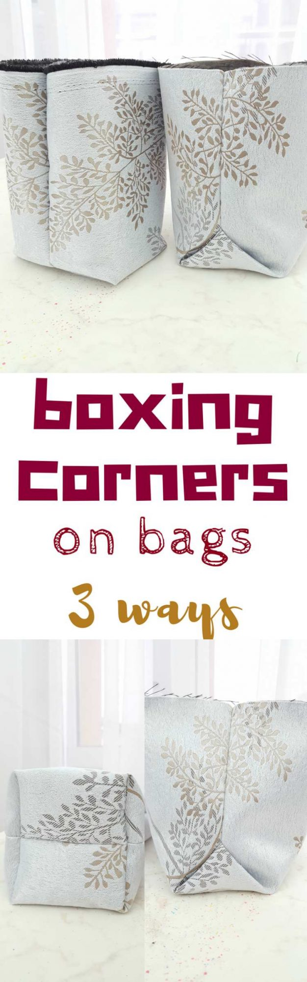 Sewing box corners
