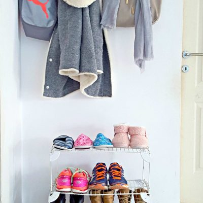 DIY Shoe Storage For The Front Door
