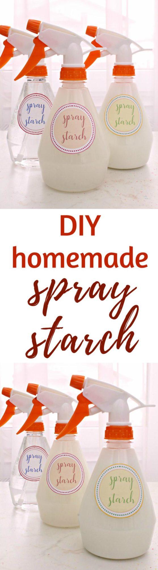 DIY spray starch