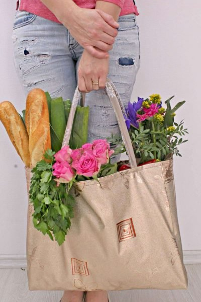 The Easiest Reusable Grocery Bag Pattern