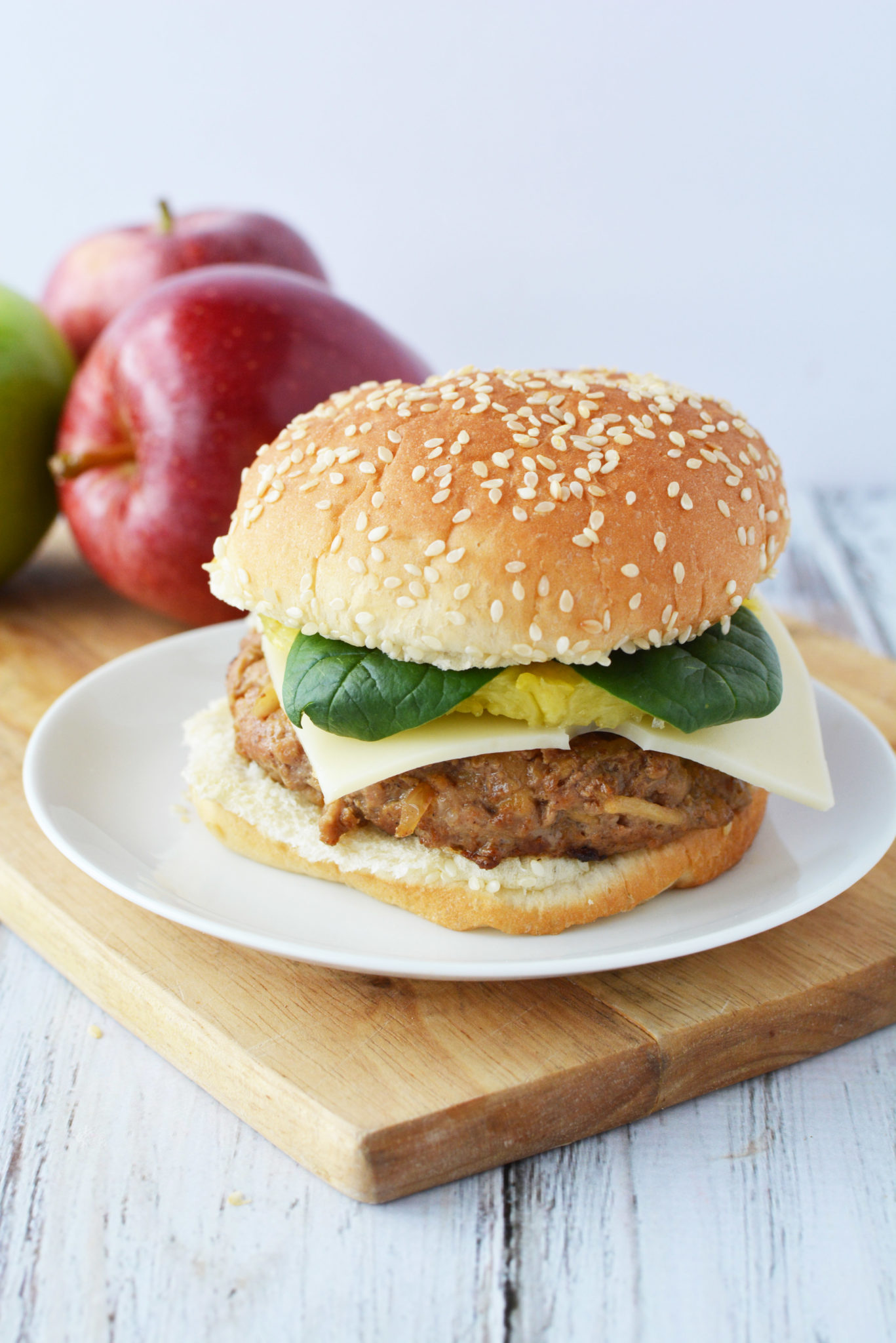 Pork And Apple Burger Incredibly Yummy, Moist & Flavorful