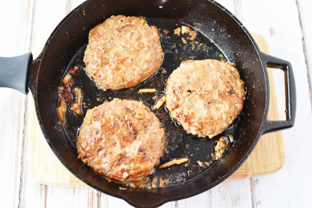 apple pork burgers