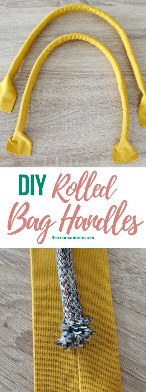 How to make rolled handbag handles