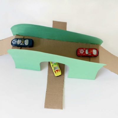 DIY Toy Bridge And Tunnel For Cars