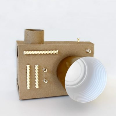 Upcycled DIY Cardboard Camera For Kids