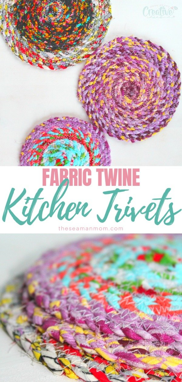 Sewing hot pads has never been easier and more fun with these fabric trivets! These super useful homemade trivets are a great beginners project and perfect idea to use up some of those fabric scraps! via @petroneagu
