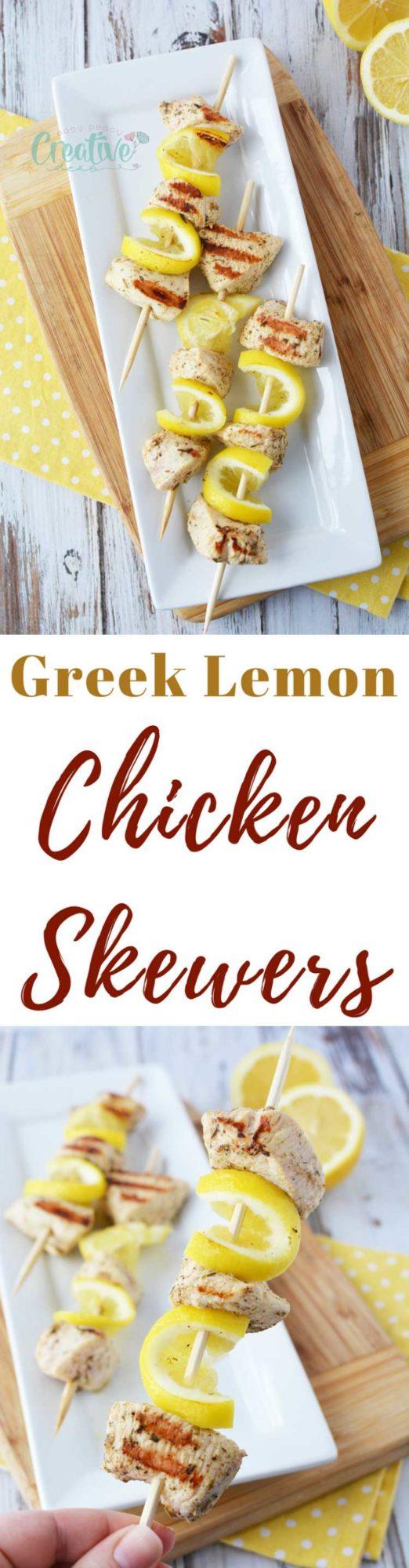 Lemon chicken skewers