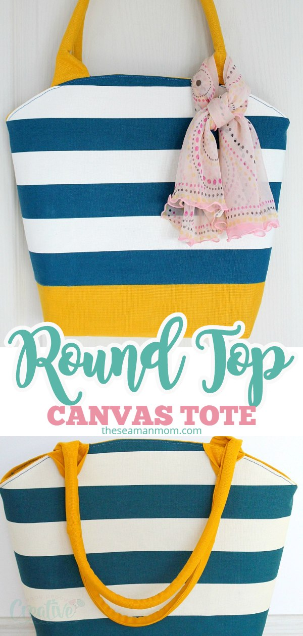 If you need a roomy tote bag to carry all your belongings, this round tote bag pattern makes a super cute, bright bag, perfect for the summer season! via @petroneagu