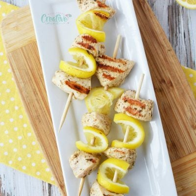 Greek Lemon Chicken Skewers