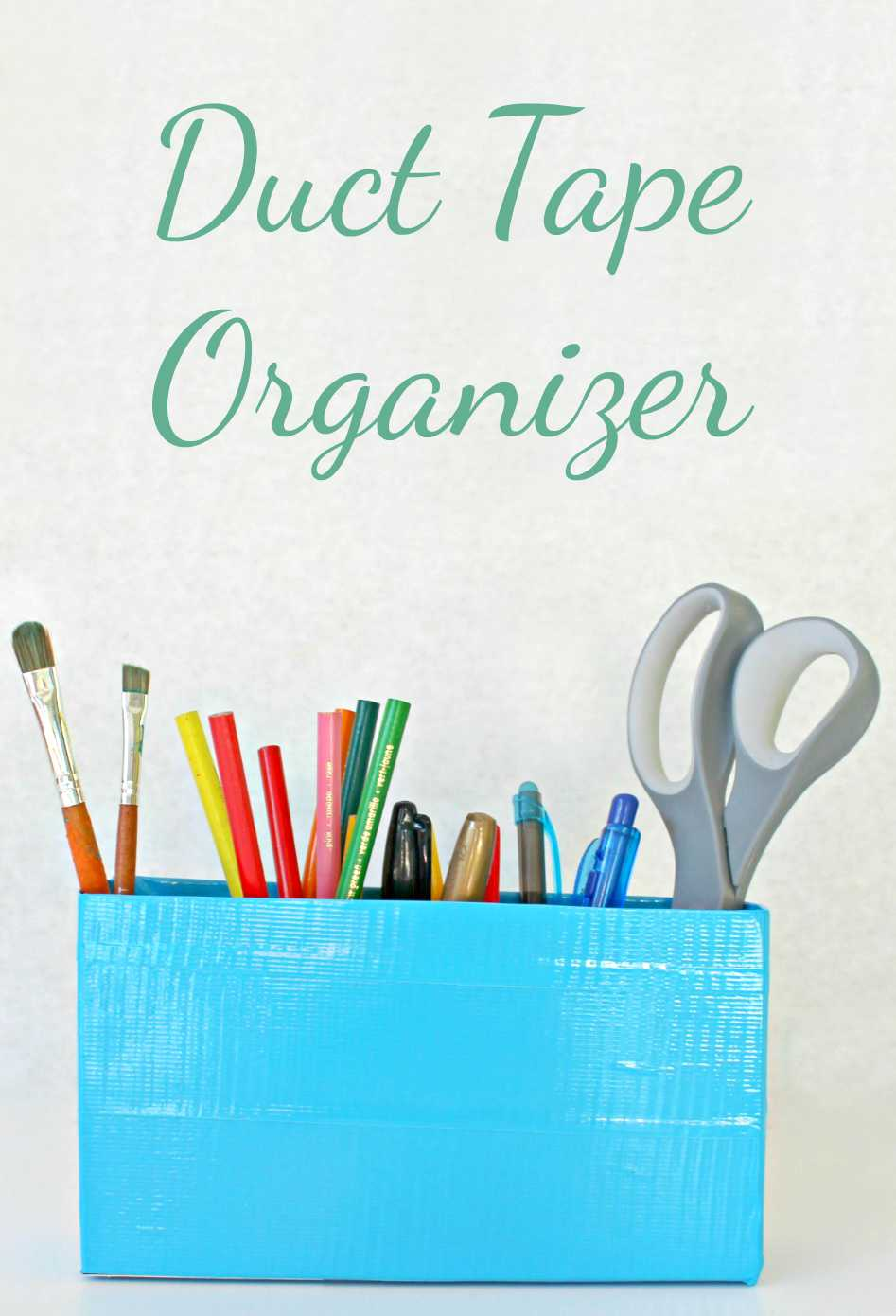 duct tape organizer using just a handful of supplies you most likely have on hand!