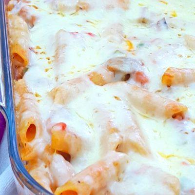 Creamy Baked Pasta With Ham & Veggie