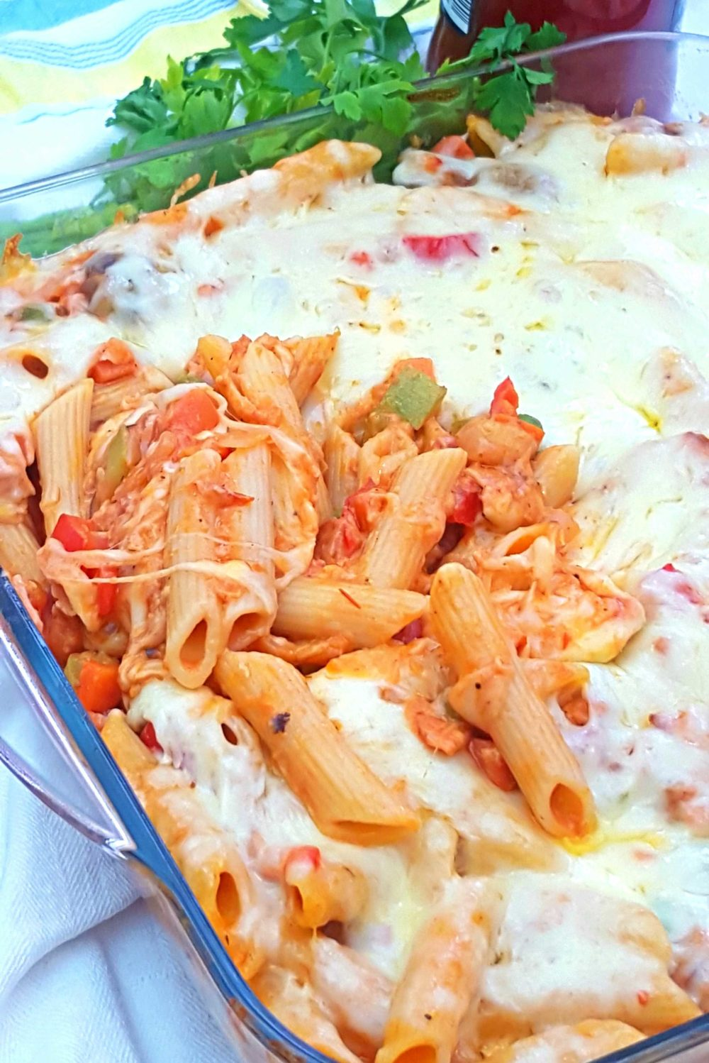 Cheese baked pasta