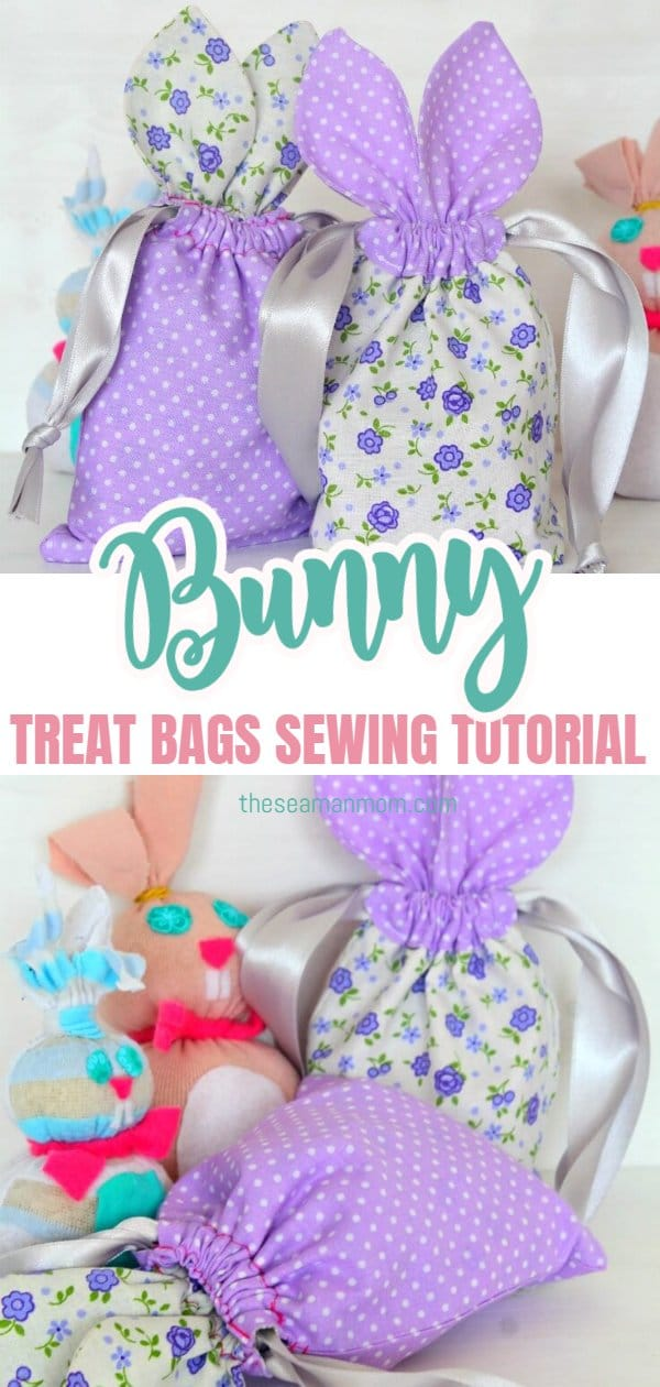 These little Easter treat bags are so irresistibly cute and perfect for hiding Easter treats! Make a whole bunch with this super easy bunny bag pattern! via @petroneagu
