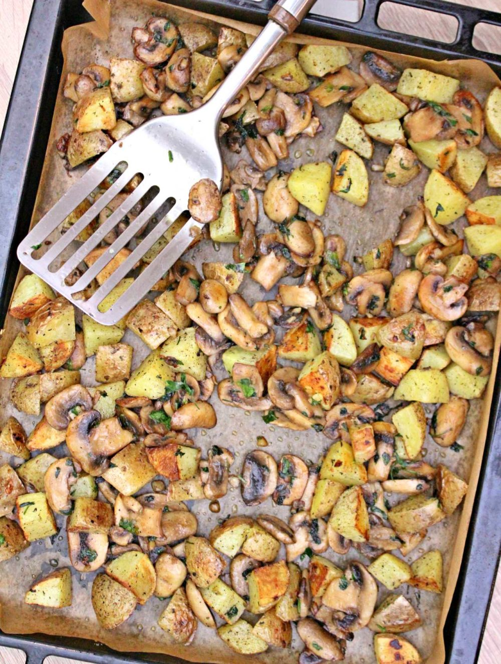 potatoes and mushrooms